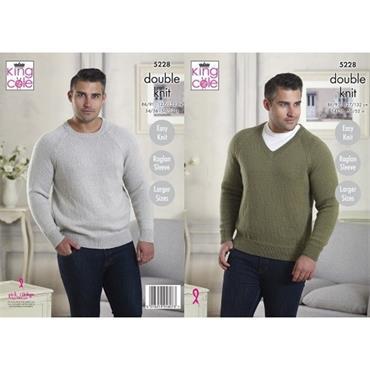 King Cole Pattern #5228 Sweaters in Majestic DK
