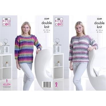 King Cole Pattern #5249 Sweaters in DK
