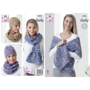 King Cole Pattern #5276 Accessories in Chunky