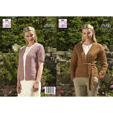 King Cole #5321 Cardigans in Big Value Chunky