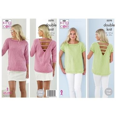 King Cole Pattern #5370 Ladies Top in Cotton Top DK
