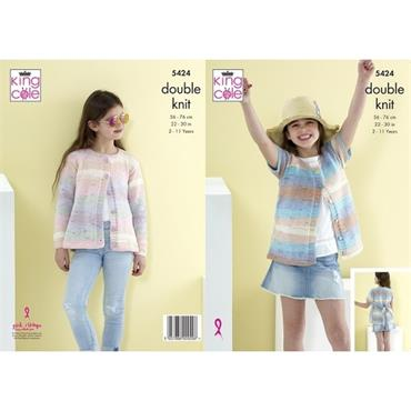 King Cole #5424 Cardigans in Beaches DK