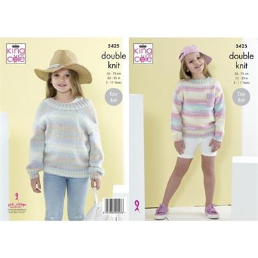 King Cole #5425 Sweaters in Beaches DK