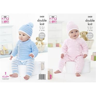 King Cole Pattern #5430 Baby Set in Cherished DK