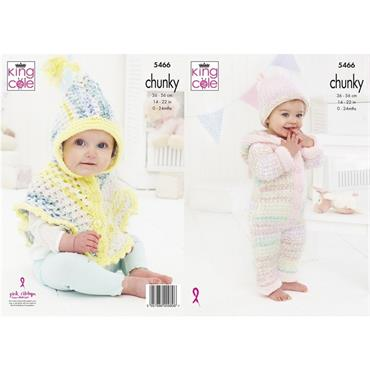 King Cole Pattern #5466 Baby Set in Chunky