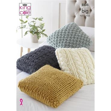 King Cole Pattern #5535 Cushions