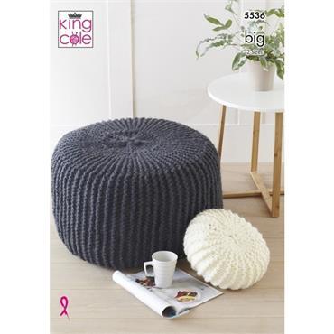 King Cole Pattern #5536 Poufs & Cushions