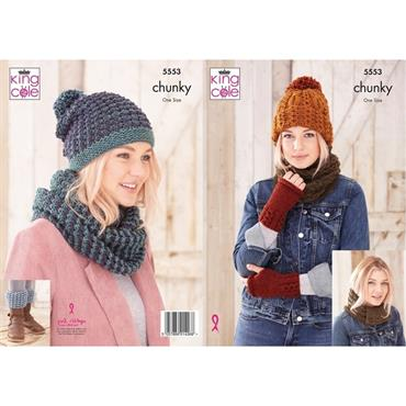 King Cole Pattern #5553 Accessories in Chunky