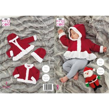Pattern #5568 Christmas Jackets & Hats Knitted in Comfort DK and Truffle