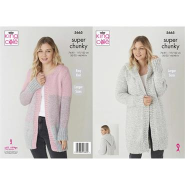 Pattern #5665 Jackets Knitted in Timeless Classic Super Chunky