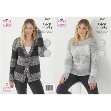 Pattern #5667 Sweater & Cardigan Knitted in Timeless Classic Super Chunky