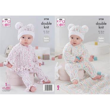 King Cole Pattern #5728 Baby Set in Double Knit