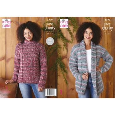 King Cole Pattern #5779 Jacket & Sweater in Christmas Super Chunky