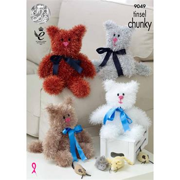 King Cole Pattern #9049 Tinsel Cats