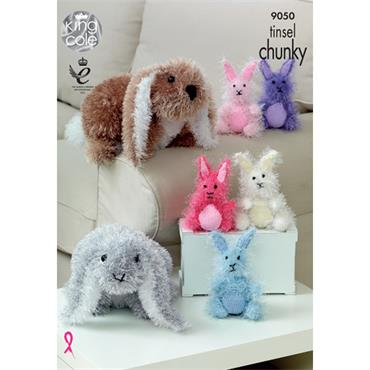 King Cole Pattern #9050 Tinsel Rabbits