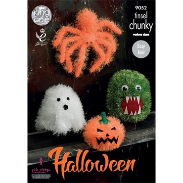 King Cole Pattern #9052 Tinsel Halloween Monsters