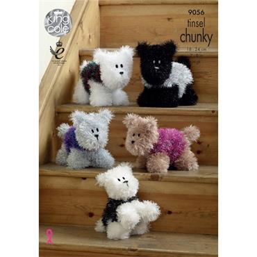 King Cole Pattern #9056 Dogs in Tinsel