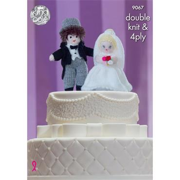 King Cole Pattern #9067 Bride & Groom Cake Toppers