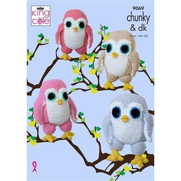 King Cole Pattern #9069 Cuddle Birds
