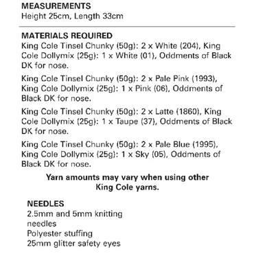 King Cole Pattern #9077 Pomeranians in Tinsel