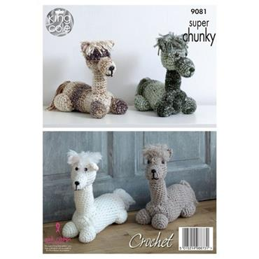 King Cole Crochet #9081 Andre the Aplaca, Stuffed toy/Doorstep