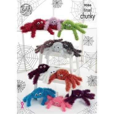 King Cole Pattern #9086 Spiders in Tinsel Chunky