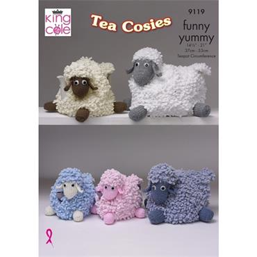 King Cole Pattern #9119 Tea Cosies in Funny Yummy