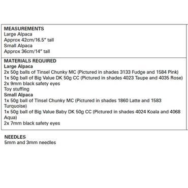 King Cole Pattern #9129 Alpaca in Tinsel