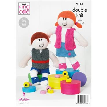 King Cole Pattern #9141 Rag Dolls in Big Value DK