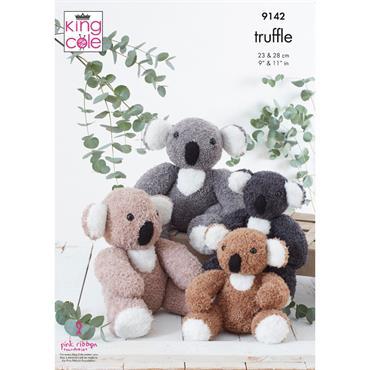 Pattern #9142 Koalas Knitted in Truffle