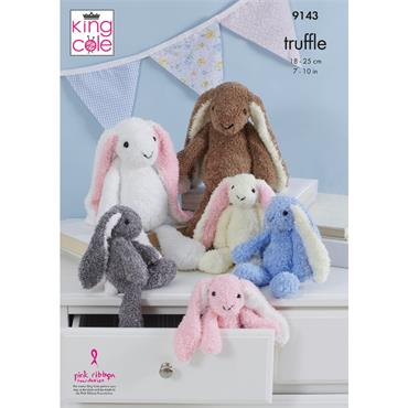 King Cole Pattern #9143 Rabbits in Truffle