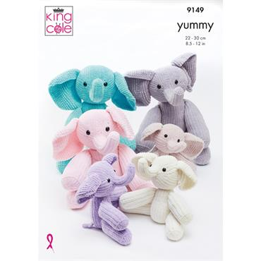 King Cole Pattern #9149 Elephant in Yummy
