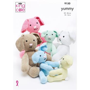 King Cole Pattern #9150 Rabbit in Yummy