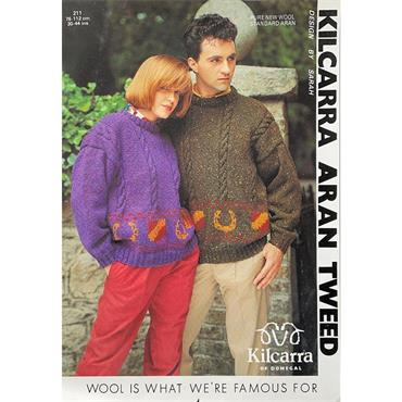 Kilcarra Pattern #211 Badge & Horseshoe Motif Sweater
