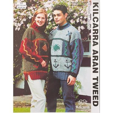 Kilcarra Pattern #233 Nautical Sweater in Aran Tweed