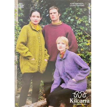 Kilcarra Pattern #776 Raglan Jacket & Sweater in Chunky