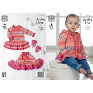 King Cole Pattern #4313 Baby Set