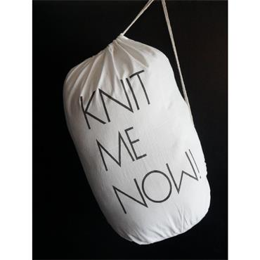 Cotton Knitting Bag - KNIT ME NOW!