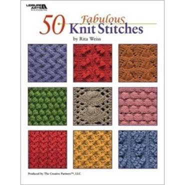 50 Fabulous Knit Stitches by Rita Weiss (Leisure Arts #4280)