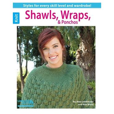 Shawls, Wraps & Ponchos by Jean Leinhauser & Rita Weiss (Leisure Arts #5628)