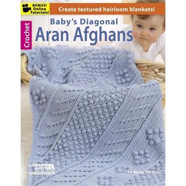 Baby's Diagonal Aran Afghans (Leisure Arts #5732)