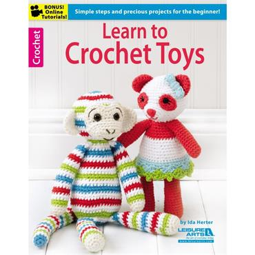 Learn to Crochet Toys by Ida Herter (Leisure Arts #6188)