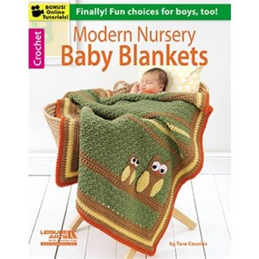 Modern Nursery Blankets by Tara Cousins (Leisure Arts #6237)