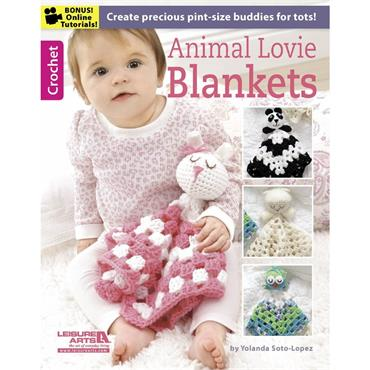 Animal Lovie Blankets by Yolanda Soto-Lopez (Leisure Arts #6373)