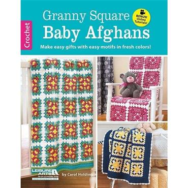 Granny Square Baby Afghans - Crochet (Leisure Arts #6412)