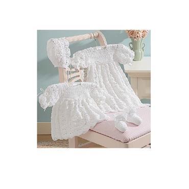 2 Christening Sets - Crochet (Leisure Arts #6544)