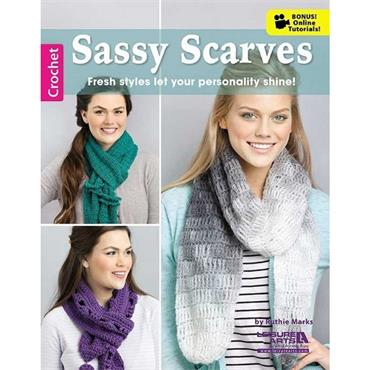 Sassy Scarves - Crochet (Leisure Arts #6582)
