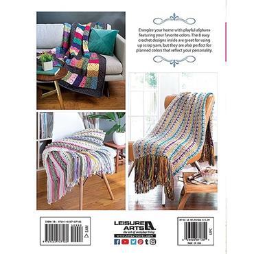 Scrappy Afghans (Leisure Arts #7135) Crochet Book