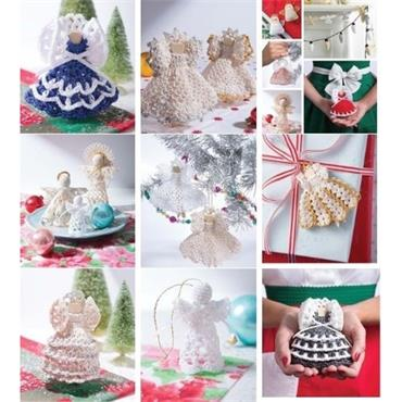 Retro Christmas Ornaments, 15 Beautiful Thread Angels & more - Crochet (Leisure Arts #7195)