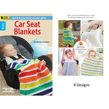 Car Seat Blankets - Knit  (Leisure Arts #75470)